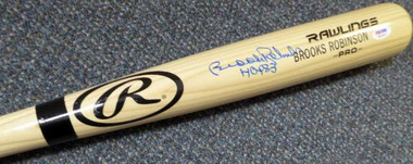Brooks Robinson Autographed Rawlings Blonde Name Model Bat