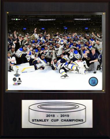 St. Louis Blues 12x15 Stanley Cup Champions Photo Plaque