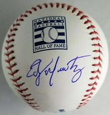 Edgar Martinez Autographed Hall of Fame Logo Baseball