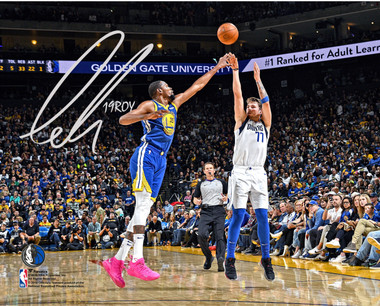 Luka Doncic NBA 2019 Rookie of the Year, Dallas Mavericks Autographed 8x10 Action Photo