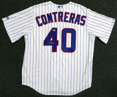 promo code b747e dc7e2 Willson Contreras Autographed Chicago Cubs Authentic Majestic Home Jersey  Size XL Beckett BAS