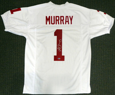 official photos d4ba7 9e10d Kyler Murray Autographed Oklahoma Sooners Custom White Jersey Beckett BAS
