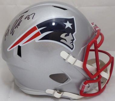 new styles 15b1c e995e Rob Gronkowski Autographed New England Patriots Full Size Replica Speed  Helmet Beckett BAS