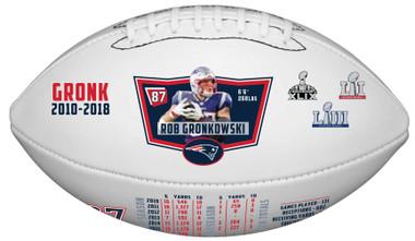 Rob Gronkowski Commemorative Retirement Football