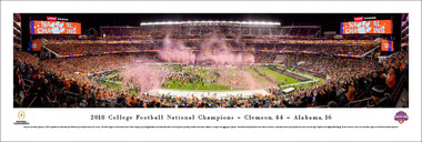 Clemson Tigers 2018 College Football Playoff National Championship Panoramic Poster