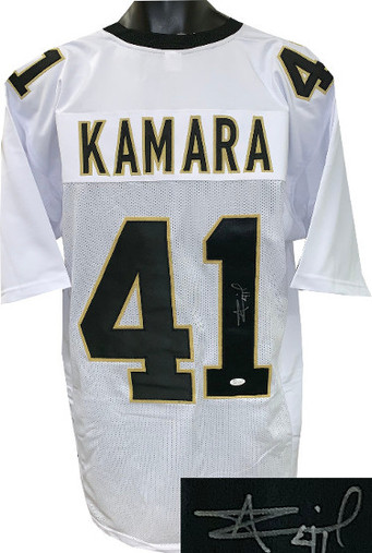 reputable site b51ca fb570 Alvin Kamara New Orleans Saints Autographed White Custom Stitched Pro Style  Football Jersey #41 XL - JSA Witnessed Hologram