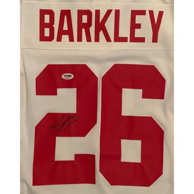 check out fdcde 0344e Saquon Barkley Autographed New York Giants White Nike NFL Game Football  Jersey PSA DNA COA