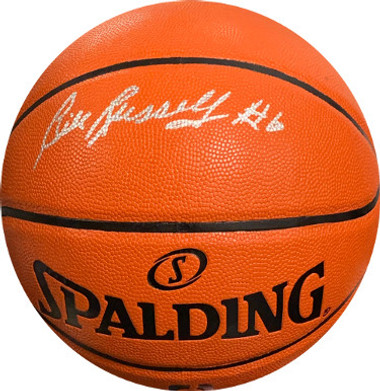"Bill Russell Boston Celtics signed Spalding NBA Game Series Rep Indoor/Outdoor Basketball ""#6"" - JSA Witnessed Hologram"