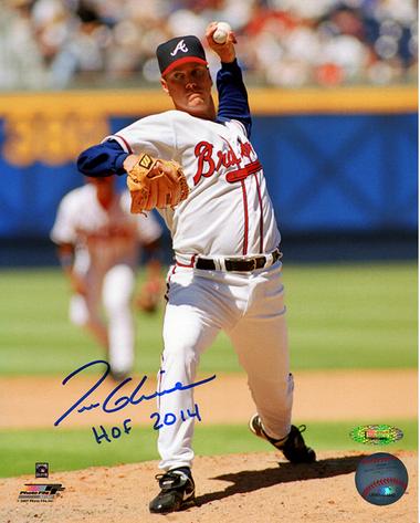 Tom Glavine Autographed 8x10 Photo with HOF 2014 inscription TRISTAR COA
