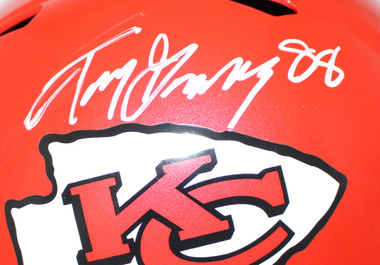Tony Gonzalez Autographed Kansas City Chiefs Speed Replica Helmet BAS