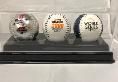 Justin Verlander Houston Astros 3000th Career Strikeout Memorabilia 3-Ball Set