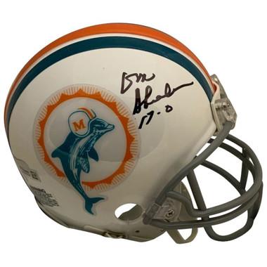 Don Shula Autographed Mini Helmet - Miami Dolphins Signed Football NFL Record 17-0 Perfect Season COA