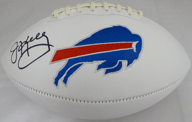 Jim Kelly Autographed Football - Buffalo Bills White Wilson Logo Beckett BAS