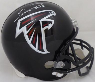 Calvin Ridley Autographed Full Size Helmet - Atlanta Falcons Black Riddell Beckett BAS
