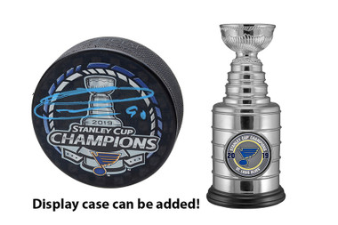 Ryan O'Reilly Autographed Stanley Cup Champions puck AND Mini Stanley Cup Replica Trophy