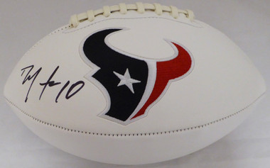 DeAndre Hopkins Autographed Football - Houston Texans White Logo BAS