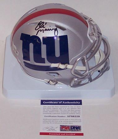 Eli Manning Autographed Mini Helmet - New York Giants AMP Speed PSA/DNA