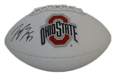 Joey Bosa Autographed football - Ohio State Buckeyes logo JSA