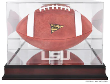 LSU Tigers Logo Mahogany Football Case