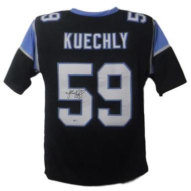Luke Kuechly Autographed Jersey - Carolina Panthers Black XL BAS