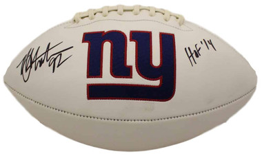 Michael Strahan Autographed Football - New York Giants Logo HOF JSA