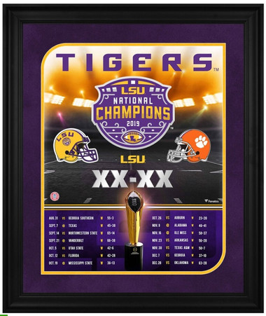 LSU Tigers 20x24 Framed National Championship Collage