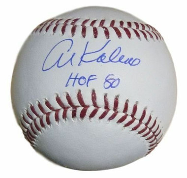 Al Kaline Autographed Baseball - Detroit Tigers MLB HOF 80 inscription