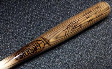 Matt Harvey Autographed Bat - New York Mets Los Angeles Angels Louisville Slugger Dark Knight   PSA/DNA