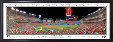 Washington Nationals - 2019 World Series Panorama with facsimile signatures