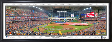 Houston Astros - Game 3 2017 World Series Panorama with facsimile signatures