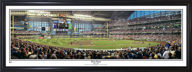 First Pitch at Miller Park Framed Panorama