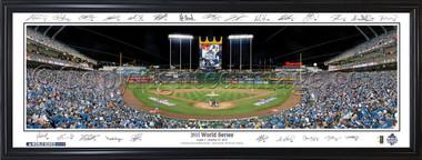 Kansas City Royals 2015 World Series Panorama - with Facsimile Signatures