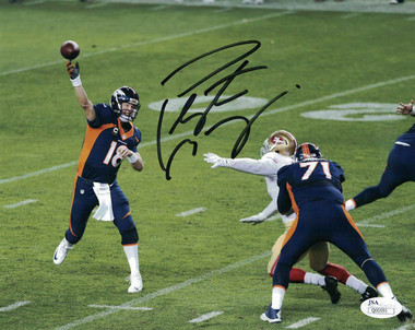 Peyton Manning Autographed Photo - Denver Broncos 8x10 vs 49ers JSA