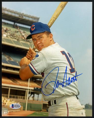 Ron Santo Autographed 8x10 Photo - Chicago Cubs Photofile    Beckett BAS