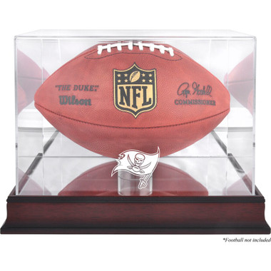 Tampa Bay Buccaneers Authentic Mahogany Football Logo Display Case with Mirror Back