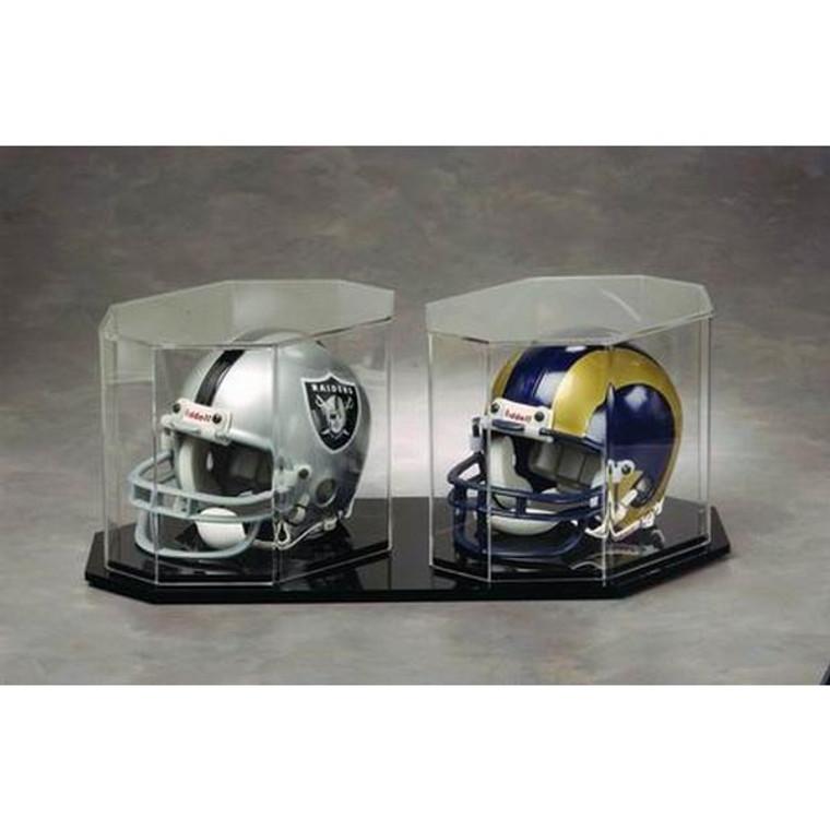 Football Mini Helmet Display Case - -Octagon Dual