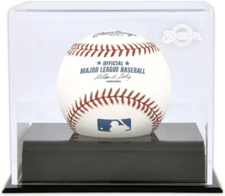 Deluxe MLB Baseball Cube Brewers Display Case