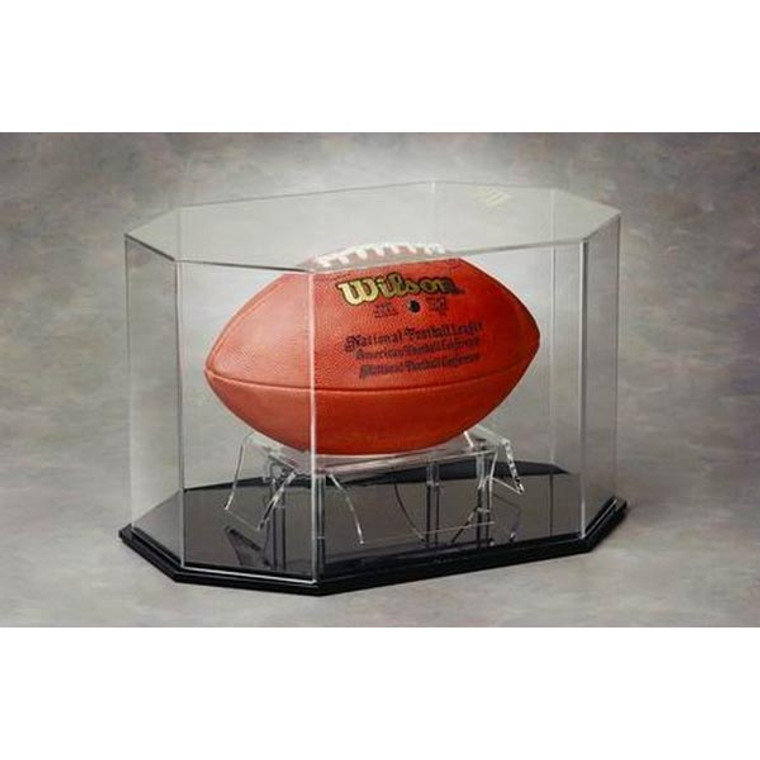 Football Octagon Display Case - Full Size