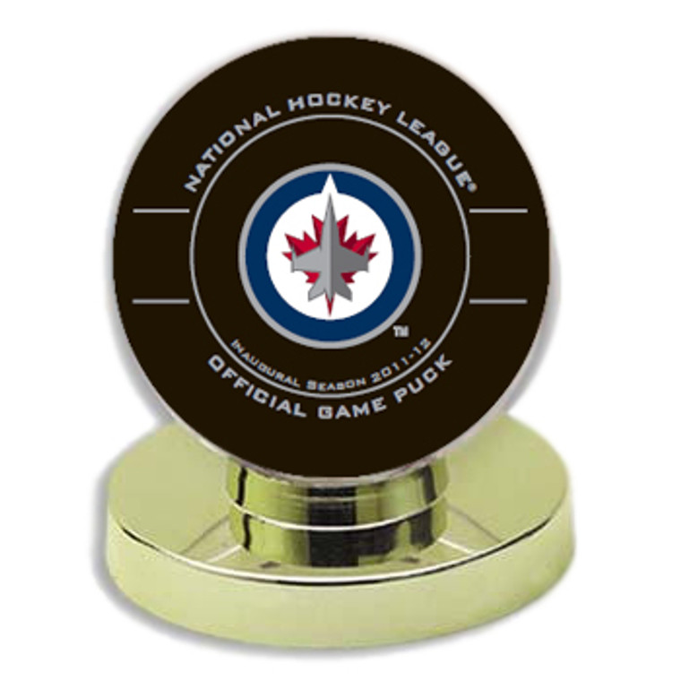 2011 Winnipeg Jets Commemorative Inaugural Season 2 Piece Puck Set