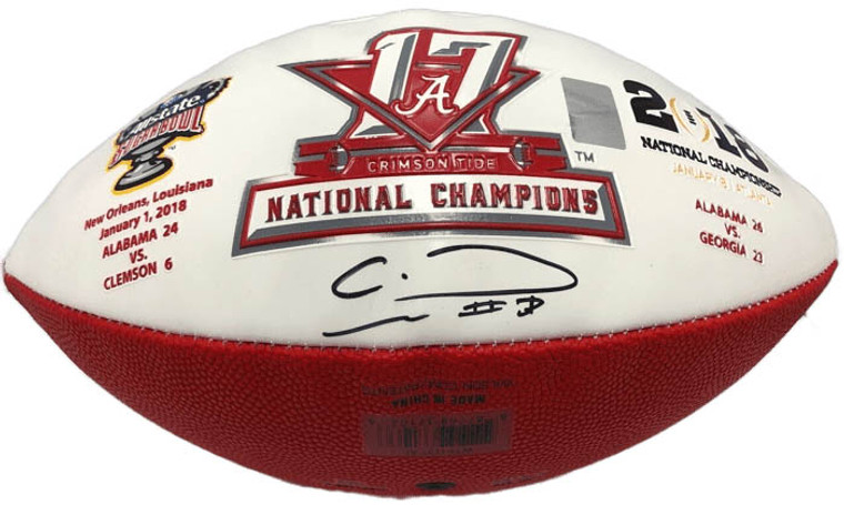 Alabama Crimson Tide 2017/18 CFP National Championship Football, Calvin Ridley Autograph