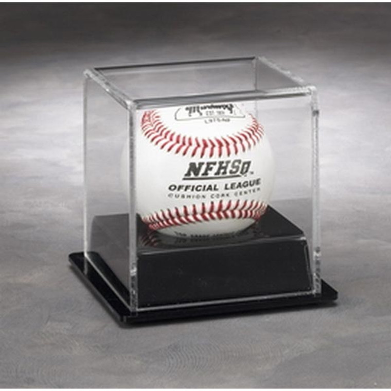 1 Baseball Display Case with Black Base