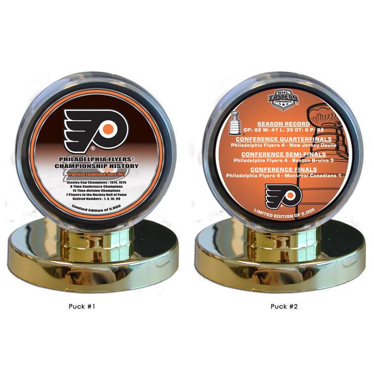 Philadelphia Flyers 2010 Stanley Cup Appearance 2 Puck Set