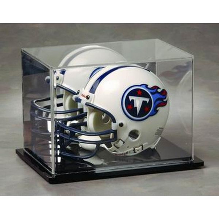 Football Mini Helmet Display Case with Mirrored Background