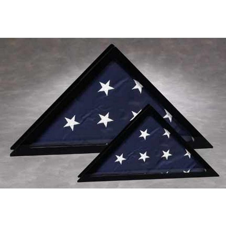 Flag Display Case with Black Frame and Clear Front - Small