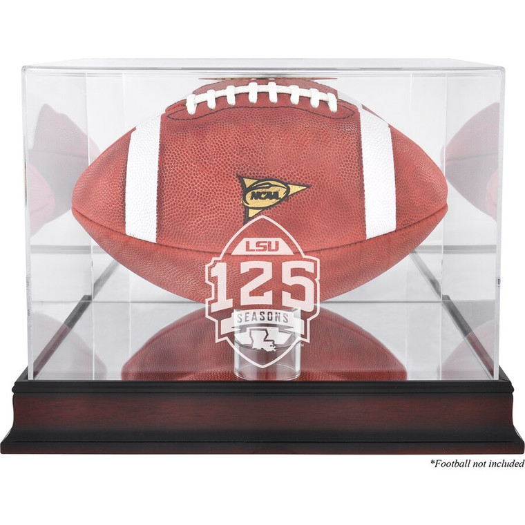 LSU Tigers 125 Years Logo Mahogany Football Case