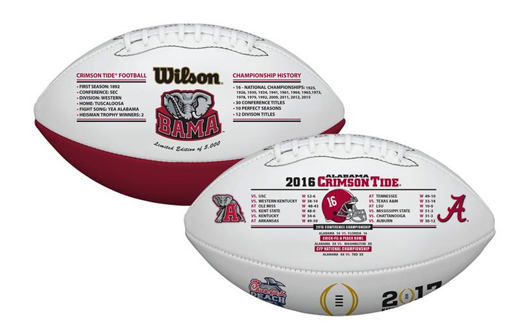 Alabama Crimson Tide 2016/17 SEC Champ & CFP Football