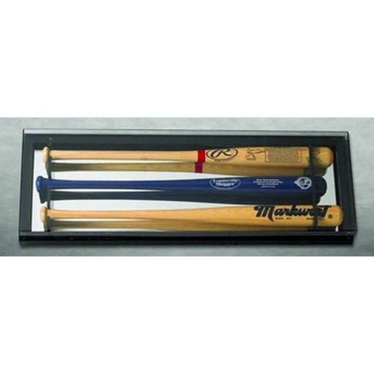 3 Baseball Bat Display Case with Mirrored Back - Elite