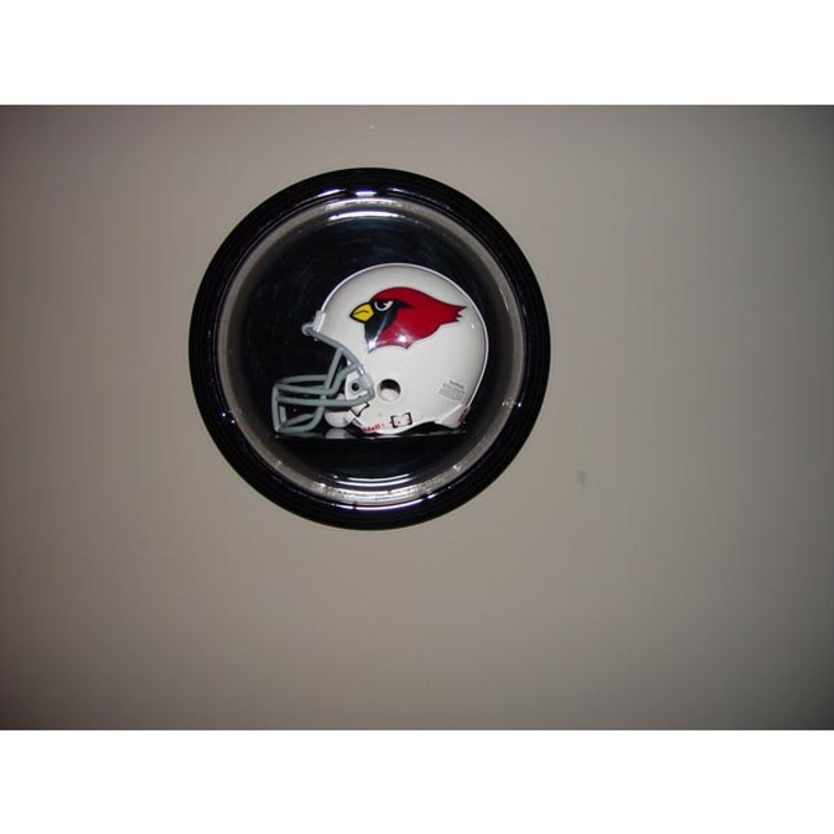 Football Mini Helmet Round Display Case - Wall Mountable
