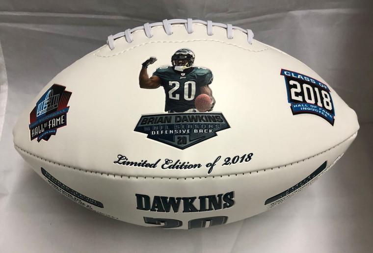 Brian Dawkins, NFL HOF, Nikco Sports Exclusive Rawlings Football