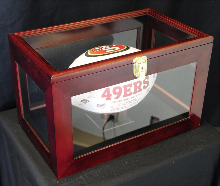 Football Display Case Wall Mounting / Free Standing- 98% UV Acrylic